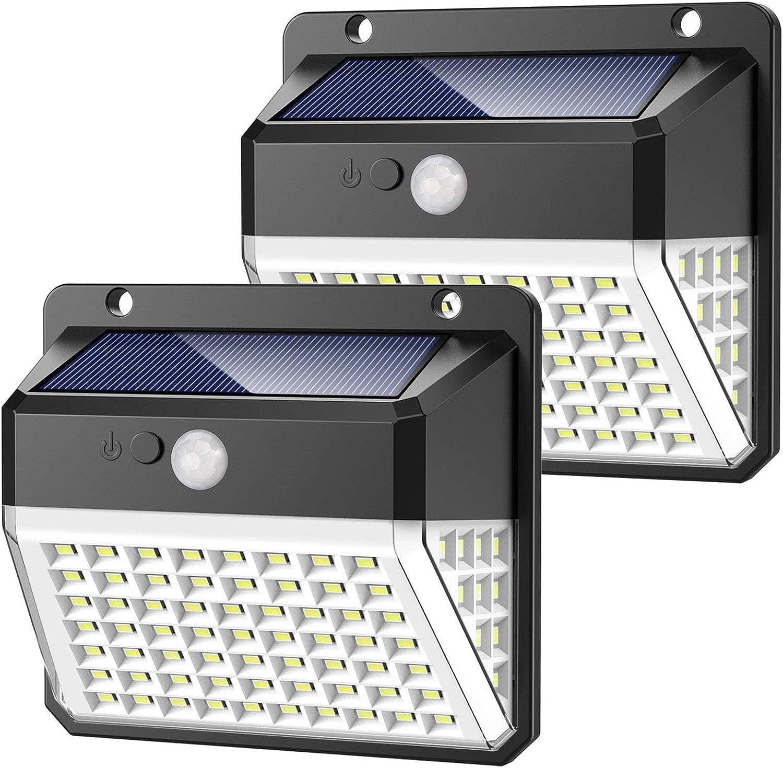 Upgraded LED Solar Power Light PIR Motion Sensor Outdoor Lamp Wall Waterproof