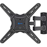 Full Motion TV Wall Mount Bracket, Articulating Arms Swivel Tilt Extension Rotation, Fits Most 26-55 Inch Flat Curved LED LCD