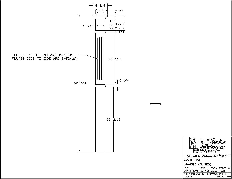 Lj 4393 P Fluted Intermediate Box Newel Poplar X Y Recorder Block Diagram