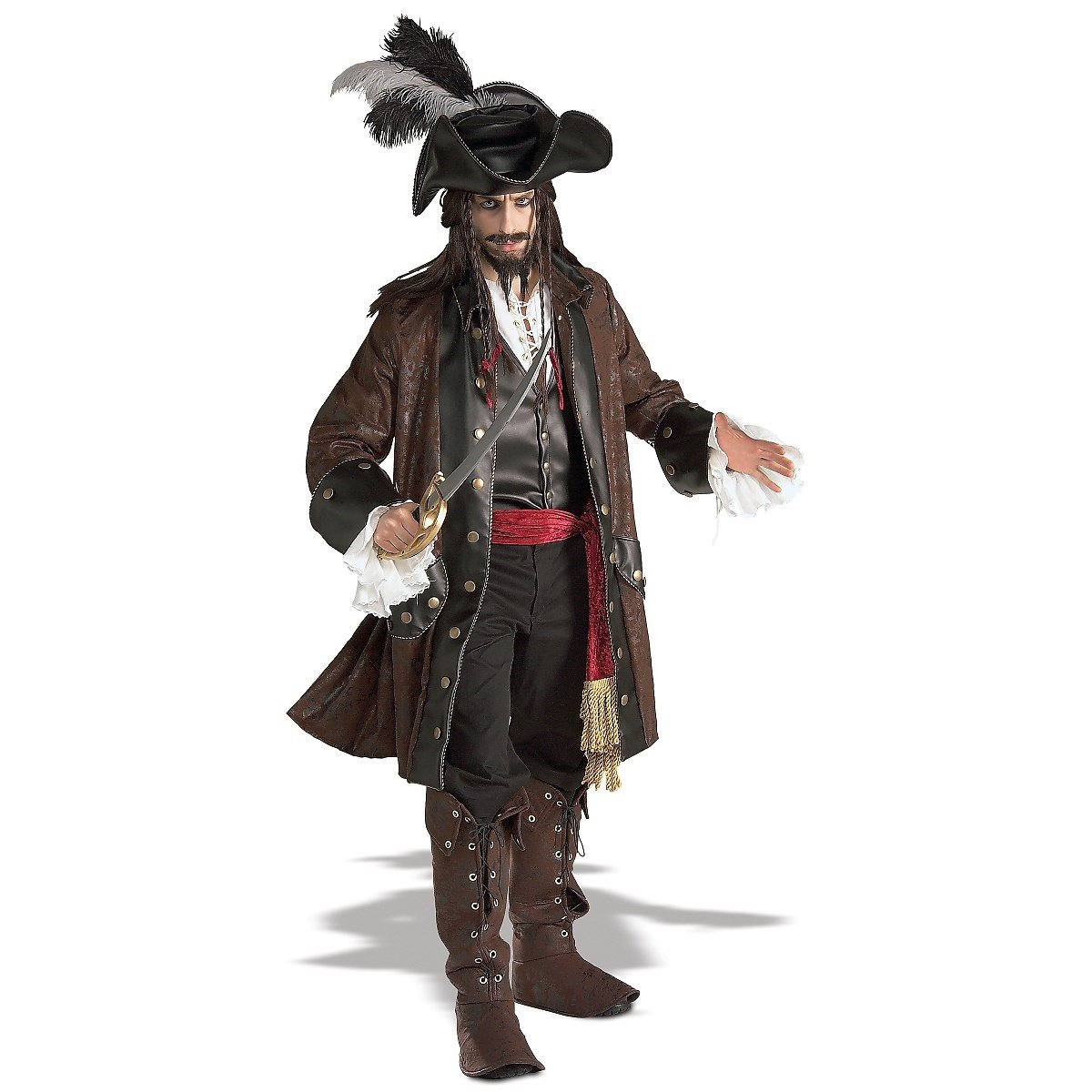 Caribbean Pirate Adult Costume - X-Large