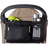 Best Stroller Organizer for Smart Moms Fits All Strollers Premium Deep Cup Holders Extra-Large Storage Space for iPhones Wallets Diapers Books Toys & iPads The Perfect !