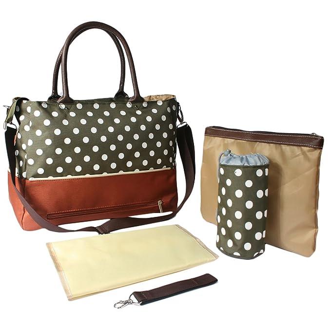 Del bebé KF Luv bolsa de pañales bolsa de palos de relación calidad precio conjunto de cinta y, con bolso Crossbody de seguro de la correa, ganchos rejilla ...