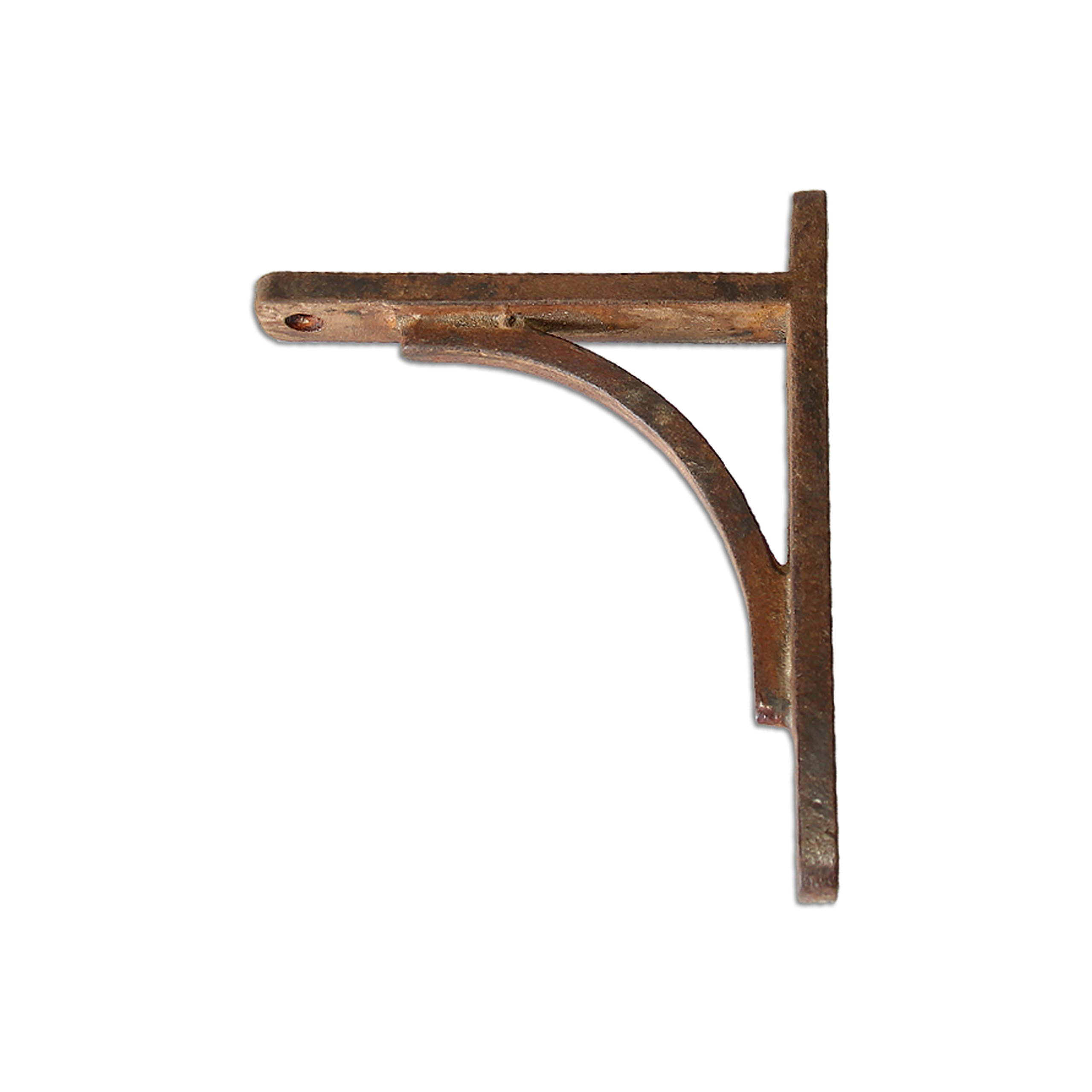 RCH Hardware Fancy Decorative Wrought Iron Shelf Bracket, Rust Finish Matching Screws Included
