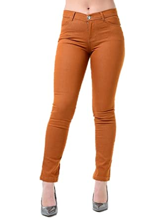 af2d8981abf6d Ladies Ex High Street Orange/Red 'Supper Skinny' Womens Jeggings Skinny  Jeans (