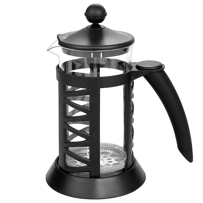 Lonlier Cafetera Francesa 1L Hervidor de Acero Inoxidable Tetera de Agua/Leche/Café/Té sin Pico de Goteo: Amazon.es: Ropa y accesorios