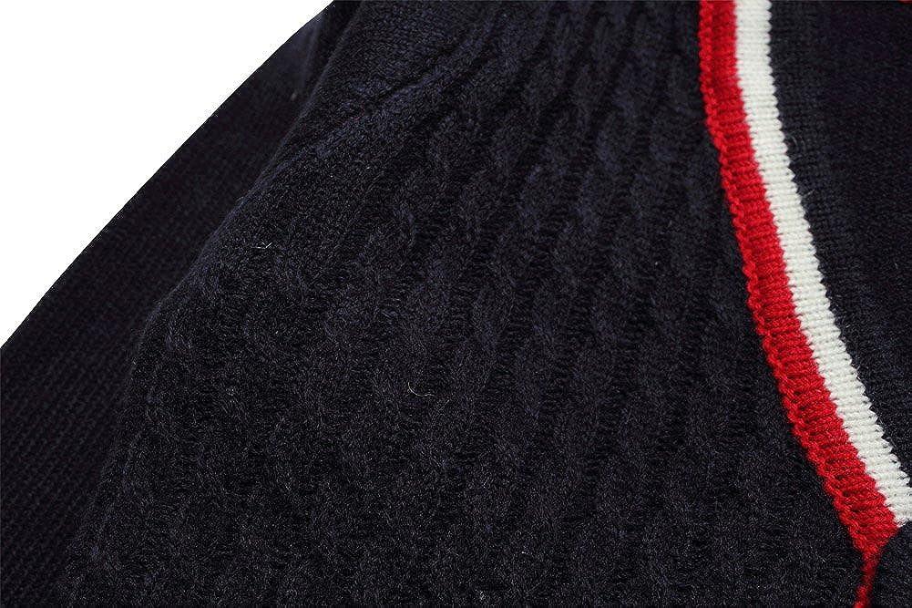 eTree Little Boys Woven Stripes Jack Pockets Cardigan Cashmere Sweater