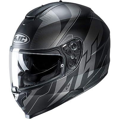 HJC C70 Helmet - Boltas (X-Small) (Black/Grey): Automotive