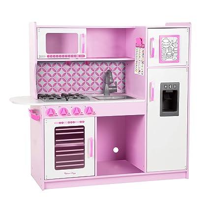 Melissa U0026 Doug Wooden Chefu0027s Pretend Play Toy Kitchen With U201cIceu201d Cube  Dispenser U2013