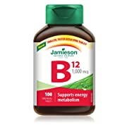 [Amazon Canada]HOT Jamieson Vitamin B12 1,000 mcg (Methylcobalamin) 100 Sublingual Tablets