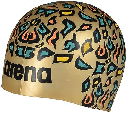 4dac86c644 Amazon.com : Arena Poolish Moulded Swim Cap, Animalier Gold : Sports ...