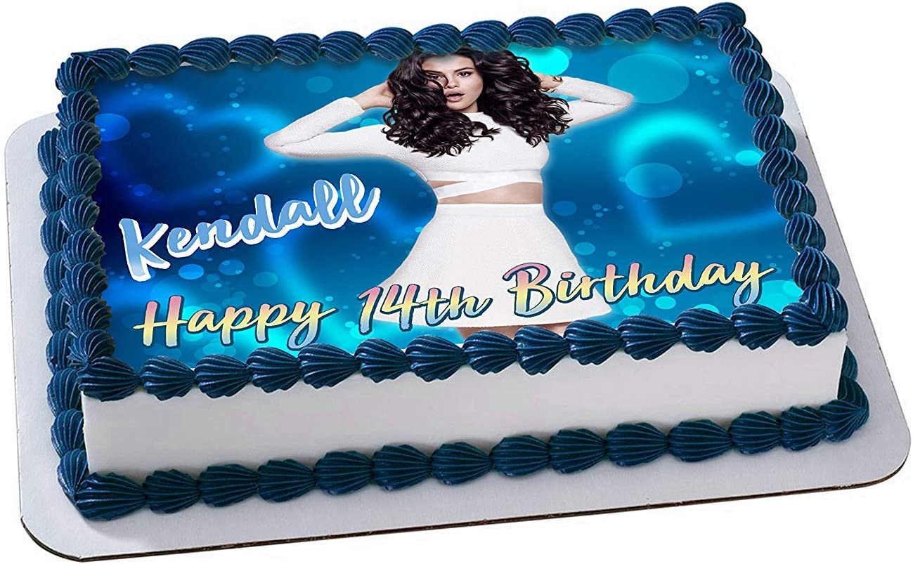 Awe Inspiring Amazon Com Selena Gomez Edible Image Cake Topper Personalized Funny Birthday Cards Online Inifodamsfinfo