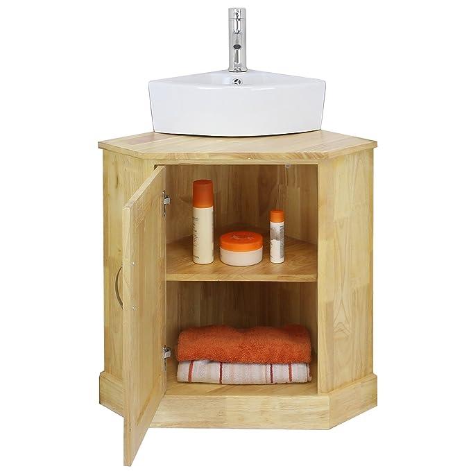Mueble Lavabo Esquinero.Blupp Palanganero Esquinero Para Bano De Solida Madera De