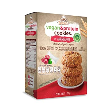 Vegan & protein cookies with cranberry