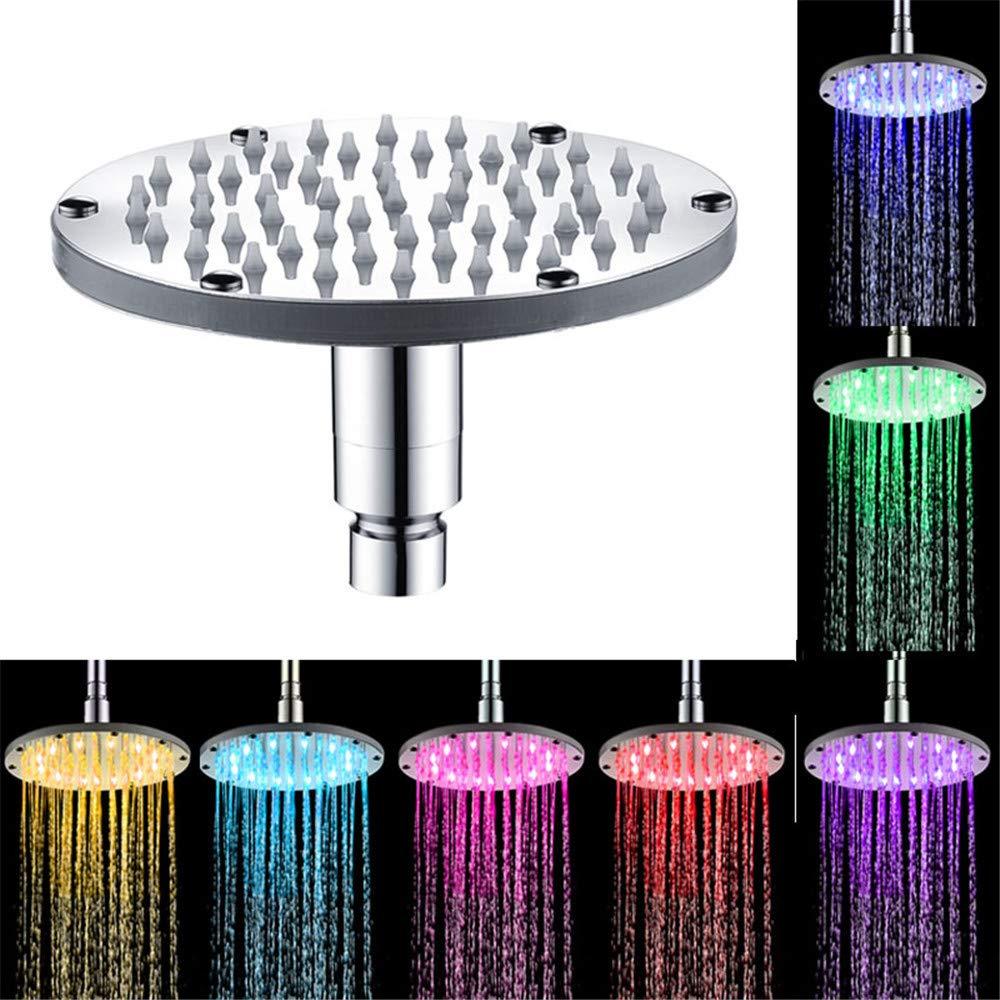 Wokee soffione LED colorati testa casa bagno 7 colori che cambiano LED rubinetto Water Glow Light