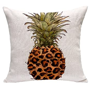Amazon.com: comvip Piña Imprimir decorativo Square Sofá ...