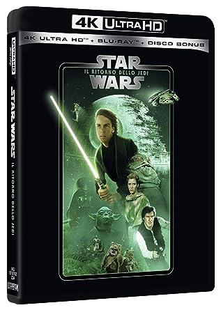 Star Wars - Episodio VI - Il Ritorno Dello Jedi Blu-Ray 4K Ultra HD+2 Blu-Ray Italia Blu-ray: Amazon.es: Carrie Fisher, Harrison Ford, Alec Guinness, Mark Hamill, Billy Dee Williams, John Williams, Richard
