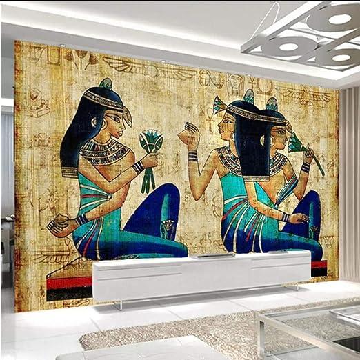Wiwhy Papel Tapiz 3D Estilo Europeo Pintado A Mano Antiguo Egipcio ...