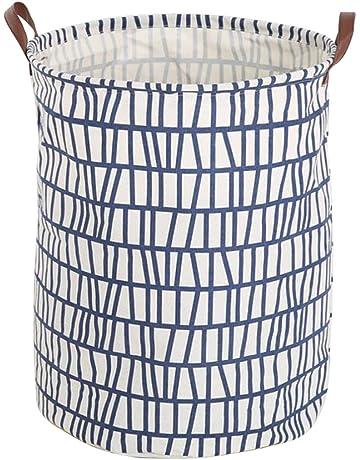 Fyore pliable Grande toile Sac de rangement Panier à linge Poignée de cuir  véritable Petit Triangle 219cf860b4b0