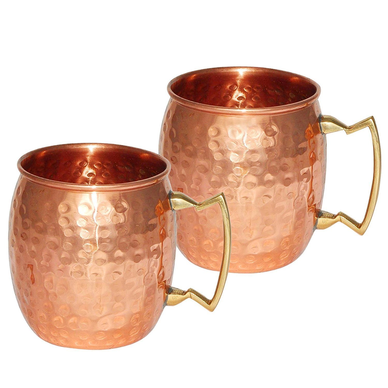 DreamKraft Hamme Copper Moscow Mule Mug Handmade Of Copper With Brass Handle 550 ML Gold by DreamKraft (Image #1)