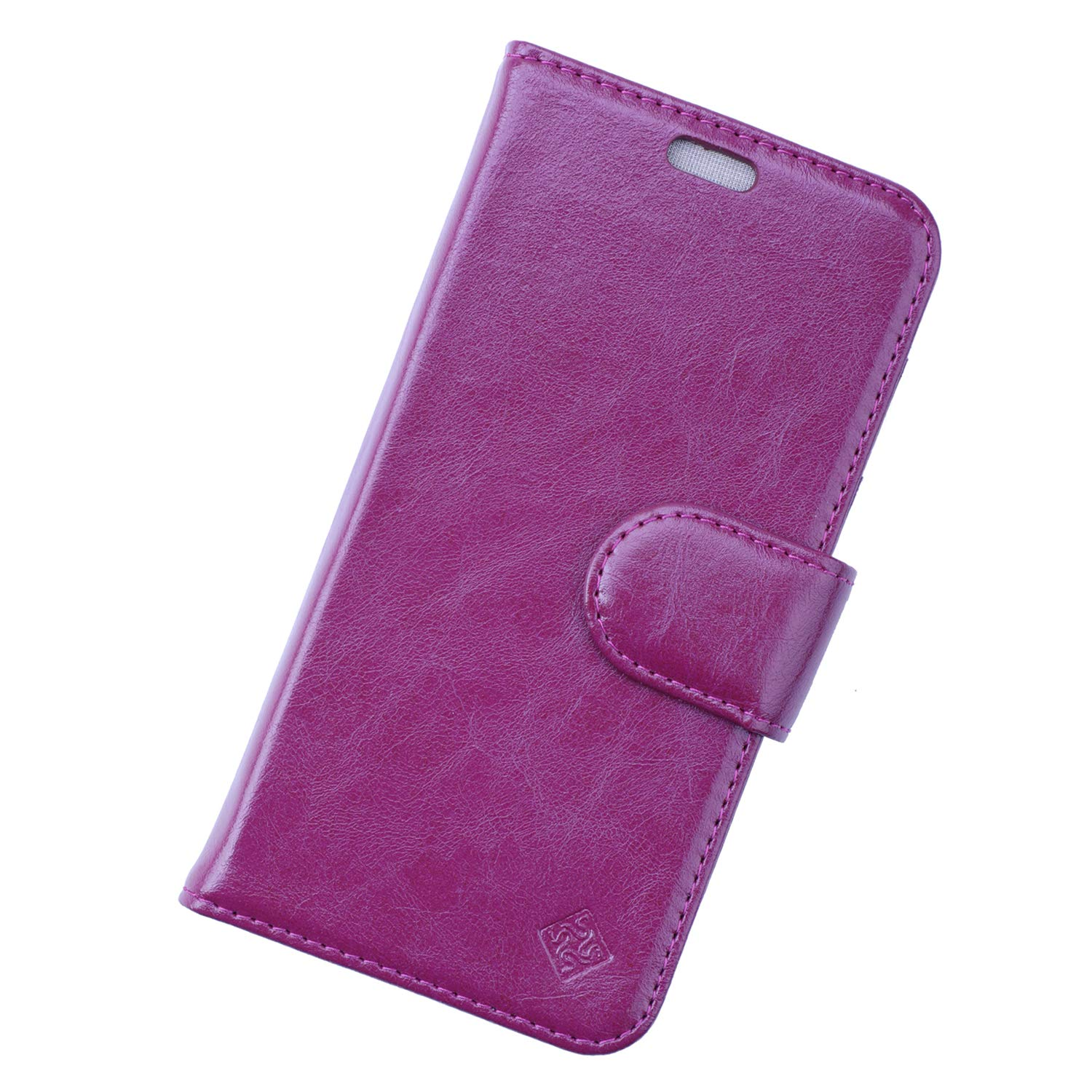 Sanxir Anti-Radiation Case, EMF and RF Protection Wallet Case Against Drops for iPhone 8 and iPhone 7 (Not Plus) with A New Classes of Nanoscale Graphene-Based Materials with RFID Protection. (Plum)