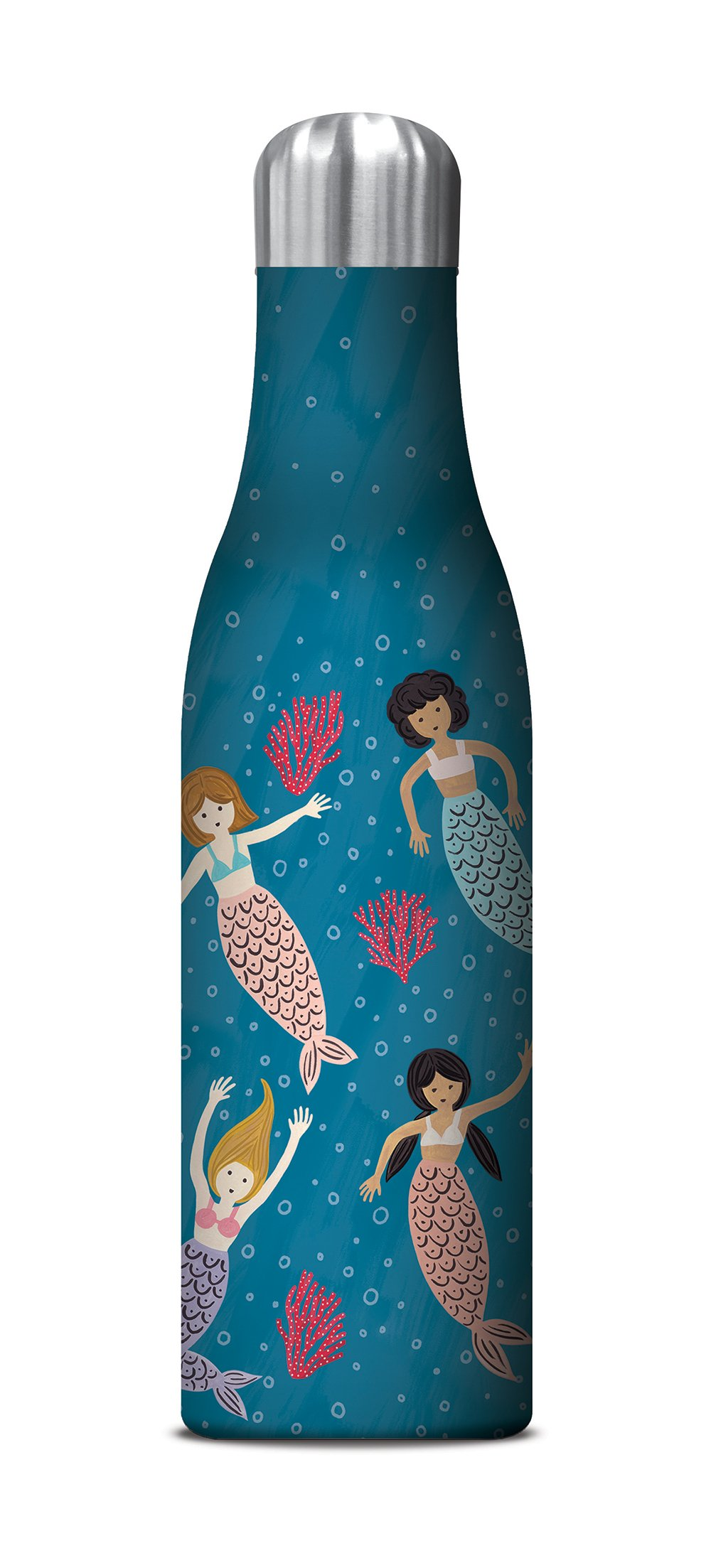Studio Oh! 17 oz. Insulated Stainless Steel Water Bottle Available in 10 Different Designs, Stacy H. Kim Mermaid Tales by Studio Oh
