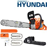 P1PE P6220C 2-Stroke Petrol Chainsaw Easy Start 20-inch Hyundai Powered 62cc Engine