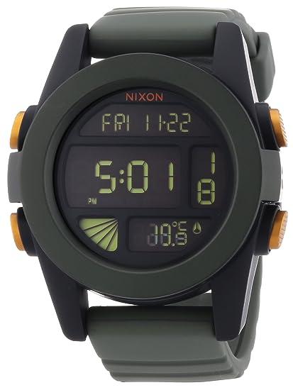 Nixon The Unit A1971265-00 - Reloj cronógrafo de cuarzo unisex, correa de silicona