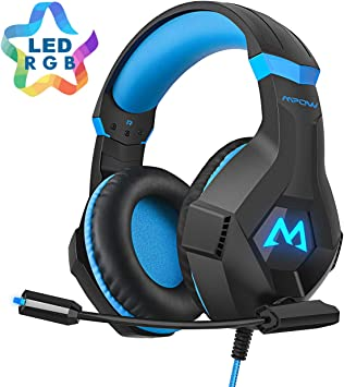 Mpow EG9 Nueva Versión Auriculares Game PS4, Casco Gaming con Micrófono para PC,Xbox One, Nintendo Switch, Wii, iPad, Móviles Sonido Envolvente, Cancelación de Ruido: Amazon.es: Electrónica
