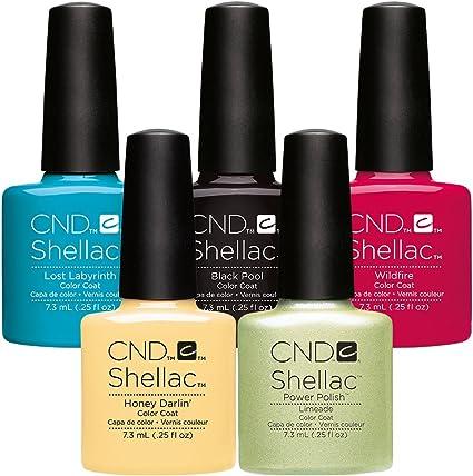 CND Shellac UV esmalte de uñas gel – Pack de ahorro 7 – 5 por el precio de 3: Amazon.es: Belleza