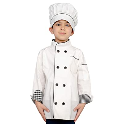 Personalized Custom Child Chef Hat and Jacket Halloween Costume: Clothing