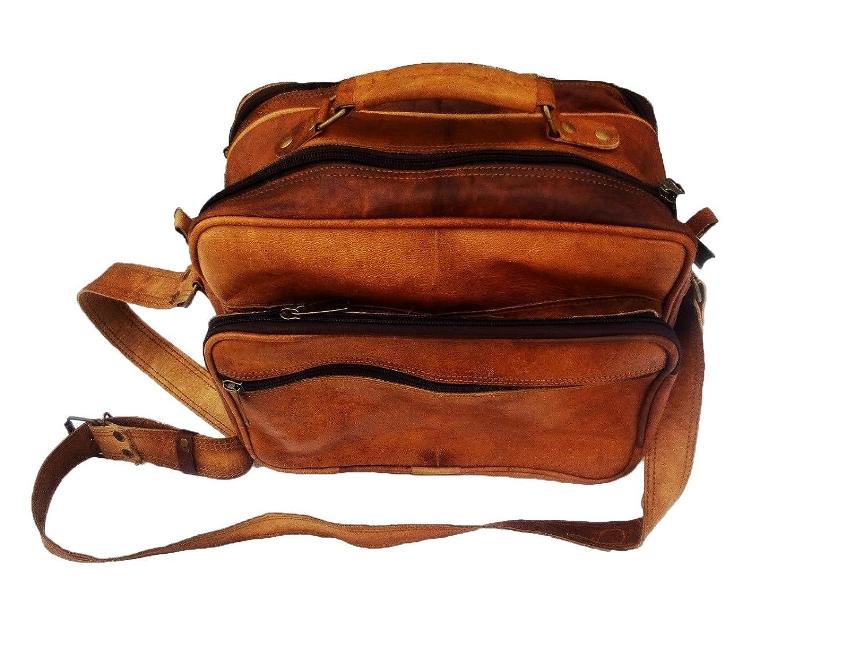 13 leather messenger bag Tablet compatible with ipad case office briefcase gift for men distressed shoulder bag