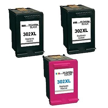Kyansin 302 XL 302XL Cartuchos de Tinta Remanufacturado HP 302 HP302 Tinta Compatible con HP DeskJet 1110 2130 3630, HP Envy 4520 4524 4527