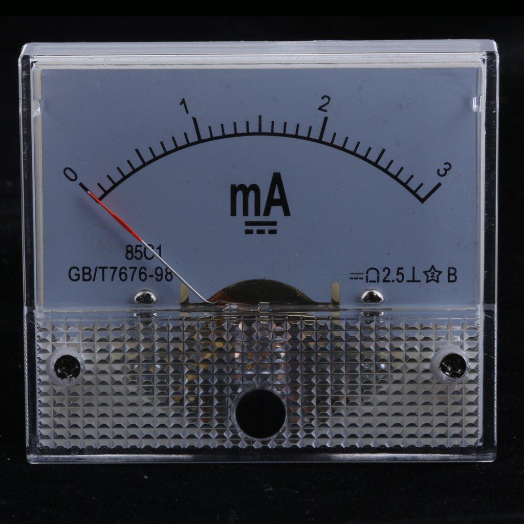 0-1A MagiDeal Misuratore Pannello Corrente Amperometrica Analogico Tipo Puntatore Calibro Plastica