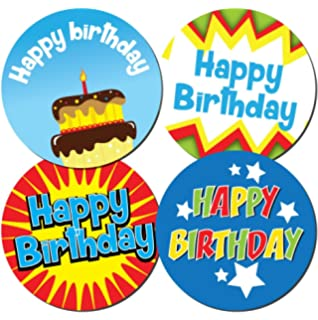 96 30mm HAPPY BIRTHDAY Gift Stickers Ballons Party Children EZ
