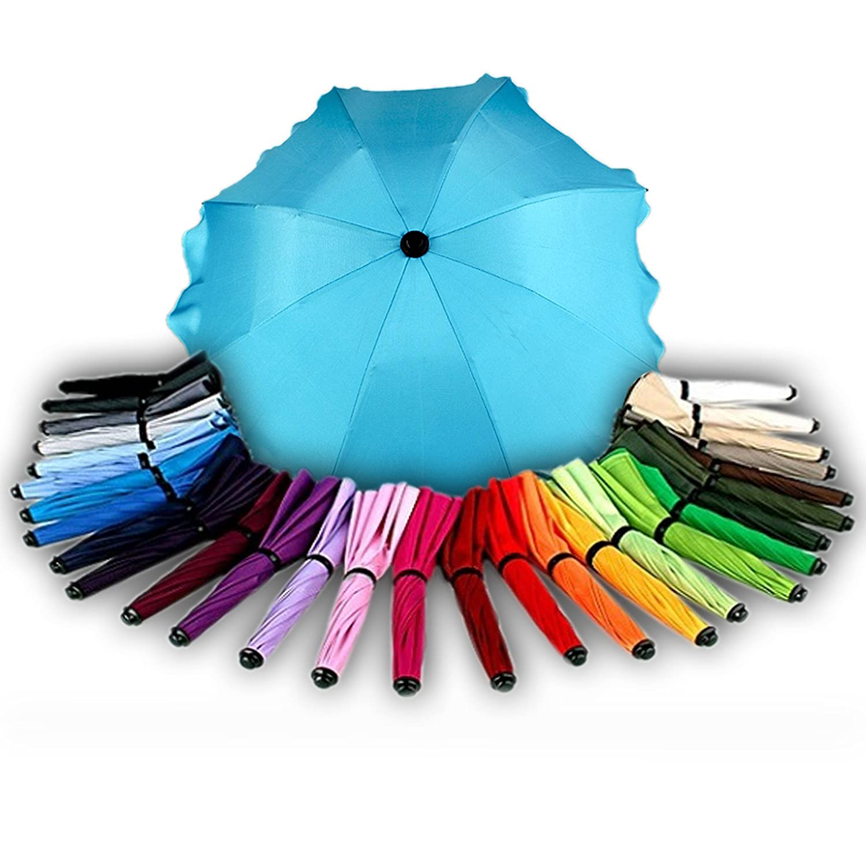 BAMBINIWELT Sonnenschirm für Kinderwagen Ø68cm UV-Schutz50+ Schirm Sonnensegel Sonnenschutz (Beige) Babys-Dreams