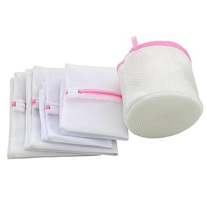 Juego de 5 la ropa delicada lingerie ropa interior lavandería lavado de malla bolsas de ropa