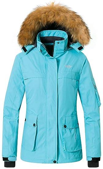 859b5d6db Wantdo Women's Warm Parka Mountain Ski Fleece Jacket Waterproof Rain Coat