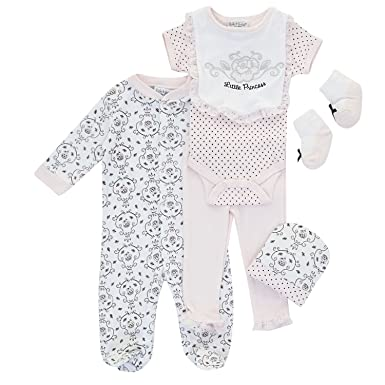1170fdf85 Kyle & Deena - Six Piece Pink & White Baby Clothes Set - 3-6 MTHS ...