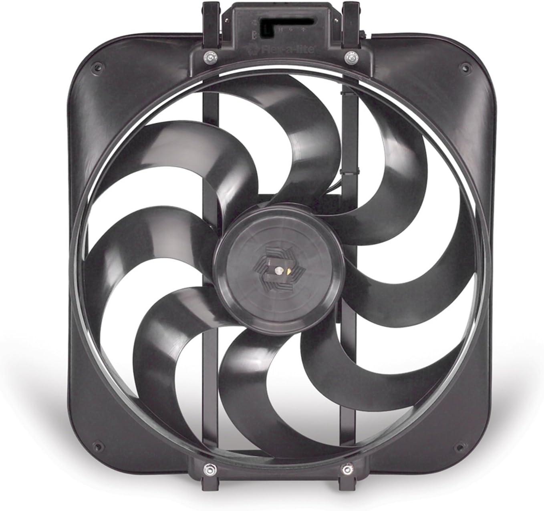 """Flex-a-lite 168 Black Magic S-blade 15"""" Reversible Electric Fan"""