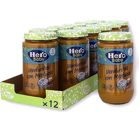 Hero Baby - Tarrito de Verduritas con Delicias de Pavo, Ingredientes Naturales, para Bebés a Partir de los 6 Meses - Pack de 12 x 235 g: Amazon.es: Alimentación y bebidas
