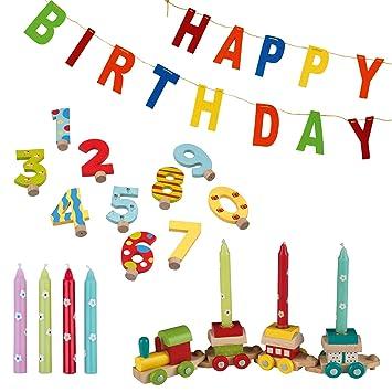 Amazon.com: Tib Heyne 75626 - Tren de cumpleaños, multicolor ...