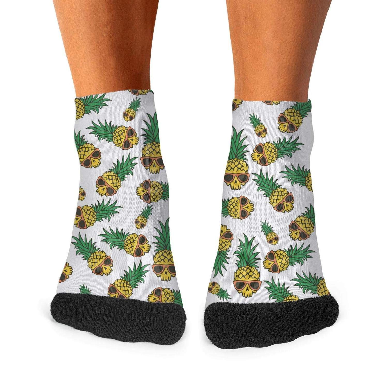 Floowyerion Mens Cool Pineapple Graphics Novelty Sports Socks Crazy Funny Crew Tube Socks