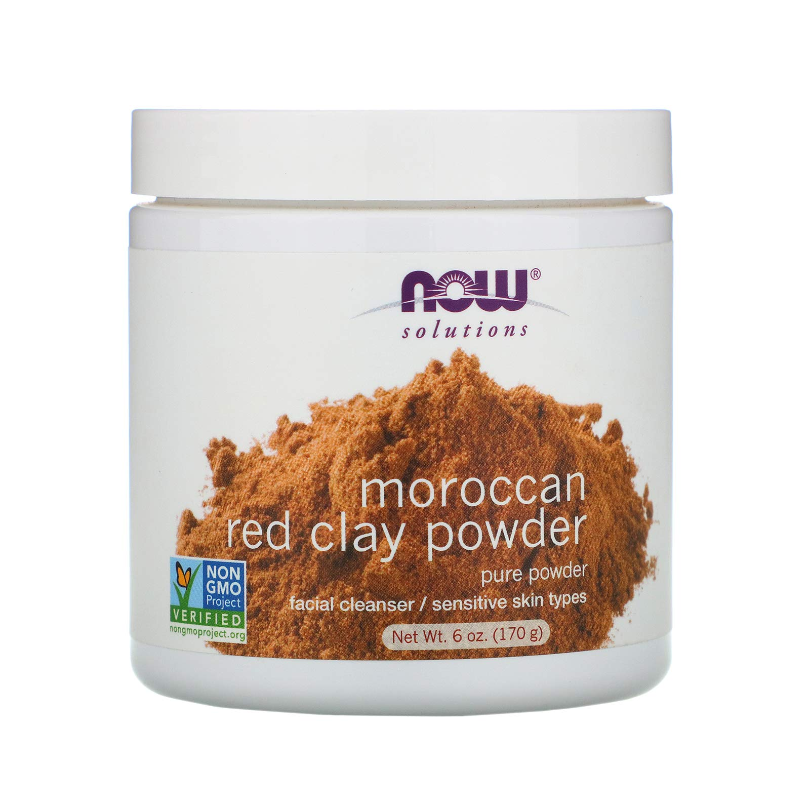 Now Foods, Solutions, (3 Pack) Moroccan Red Clay Powder, 6 oz (170 g)