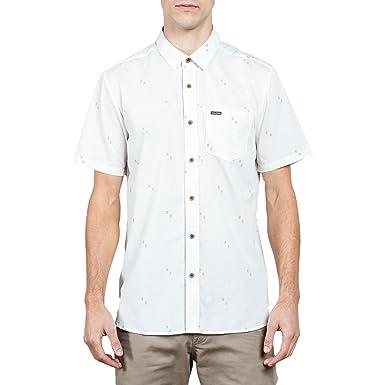 66e3e621c8d6 Amazon.com: Volcom Men's Floyd Button Up Short Sleeve Shirt: Clothing