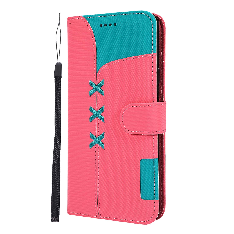 Docrax Handyh/ülle Lederh/ülle f/ür Samsung Galaxy S9+ Flip Case Schutzh/ülle H/ülle mit Standfunktion Kartenfach Magnet Brieftasche f/ür Galaxy S9+ S9 Plus - DOGHU040235 Azurblau S9Plus