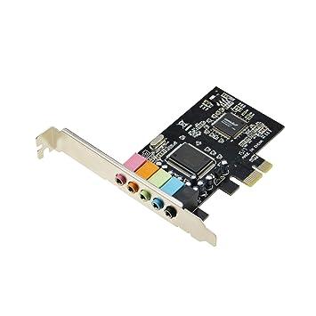 ADWITS Tarjeta de Sonido estéreo 3D PCIe con Chip de Audio CMedia CMI8738, PCI Express 1x a 5.1CH Tarjeta de Sonido Interna para Windows XP Vista ...