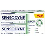Sensodyne Complete Protection Sensitive Toothpaste For Gingivitis, Sensitive Teeth Treatment, Extra Fresh - 3.4 Ounces (Pack of 2)