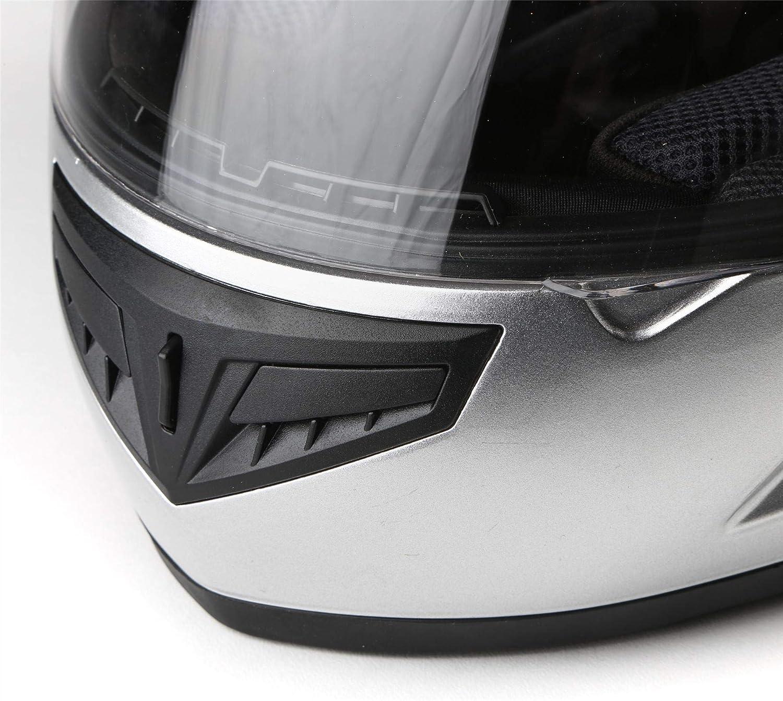 57-58cm Gl/änzend Wei/ß Qtech Vollgesichtsmotorrad-Motorradhelm auf der Stra/ßenblende ECE22-05 genehmigt M