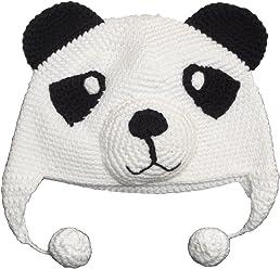 28e015aa74b snuggleheads Unisex Baby Panda Knit Hat
