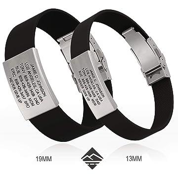 powerful Road ID Bracelet - the Wrist ID Elite 13mm - Stainless Classic - Identification Bracelet